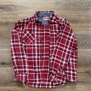 Wrangler Premium Quality Red Plaid Flannel size M